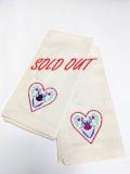 ハート刺繍のナプキン 2枚セット