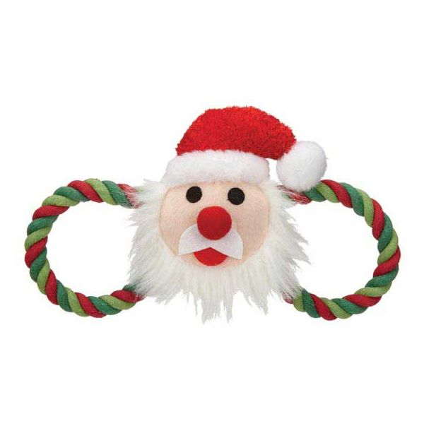 ZANIES HOLIDAY HUG DOG TOYS/Santa