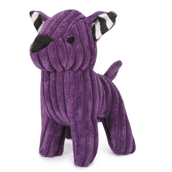 ZANIES CORDUROY CUTIES DOG TOYS/Purple