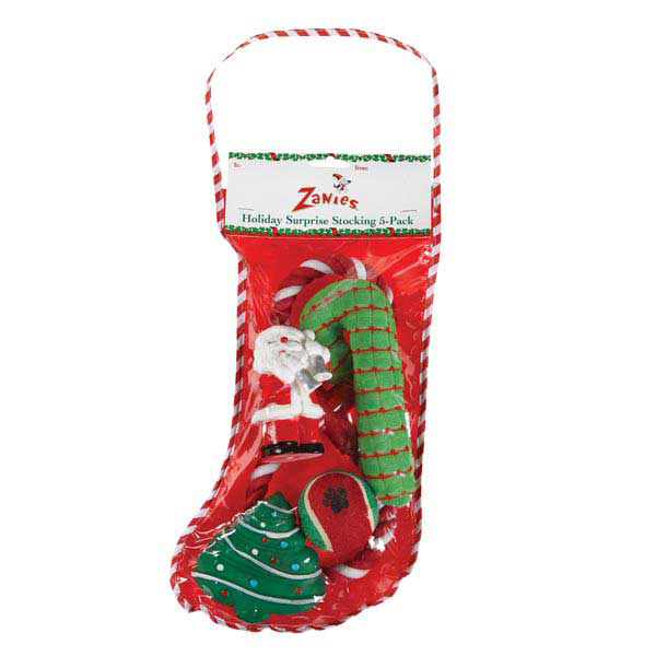 ZANIES HOLIDAY SURPRISE STOCKING