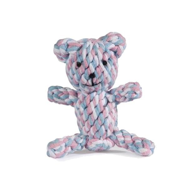 ZANIES ROPE BEARS DOG TOYS/S