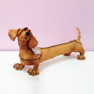 CountryArtist・small mutts ダックス レッド(犬の置物)