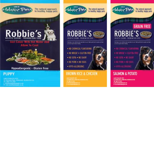 ロビーズ・パピー 2.5kg + 玄米&チキン 1kg + サーモン&ポテト 1kg