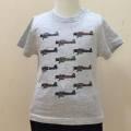 キッズTシャツ(カラフル零戦)