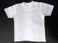 【SALE】キッズTシャツ(白)表ポリエステル100%・裏綿100%