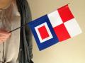 ミニフラッグ(国際信号旗UW旗)