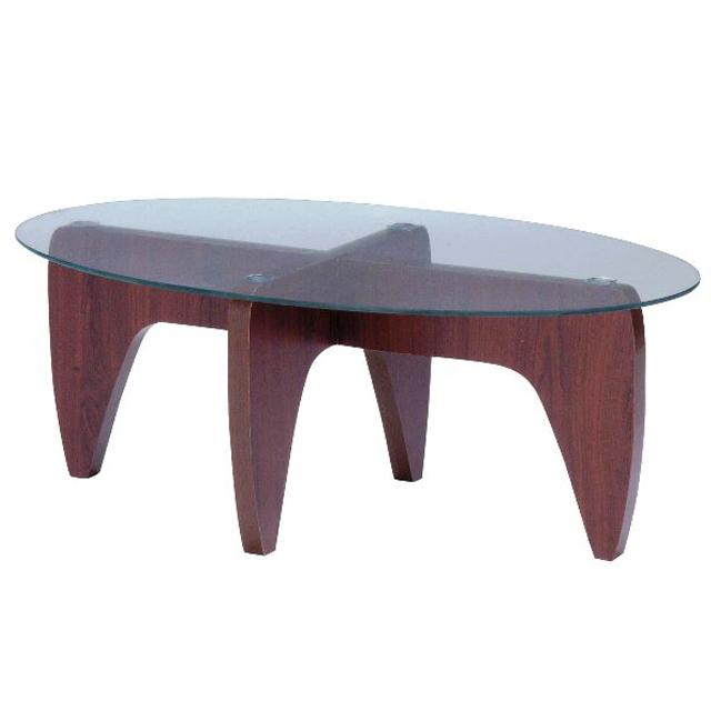 大人気!ガラストップだ円型センターテーブル(GGH-361)