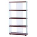 サイドが総ガラスのスタイリッシュなグラスシェルフ:Sサイズ(HAB-624-WH/BR)