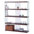 サイドが総ガラスのスタイリッシュなワイドグラスシェルフ:Lサイズ(HAB-625-WH/BR)