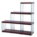サイドが総ガラスのスタイリッシュなステアラック:3D(HAB-702-WH/BR)