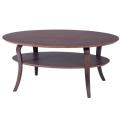 木製だ円型センターテーブル(NET-406-BR/NA)