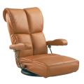跳ね上げ式の肘部にも スーパーソフトレザーを使用したハイエンド 座椅子  YS-C1367HR
