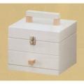 ホワイトがかわいいソーイングボックス (キューブ) H4365
