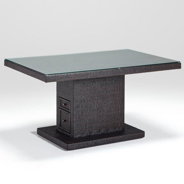 """ラタン リビングダイニングテーブル  """"ベンチュラ LD テーブルS"""" 匠の技が光るハンドメイド"""