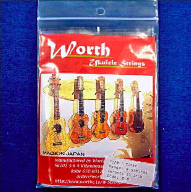 Worth 弦 (C-8 - クリアフロロカーボン8弦用)