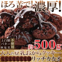 豆乳おからクッキーリッチカカオ500g1