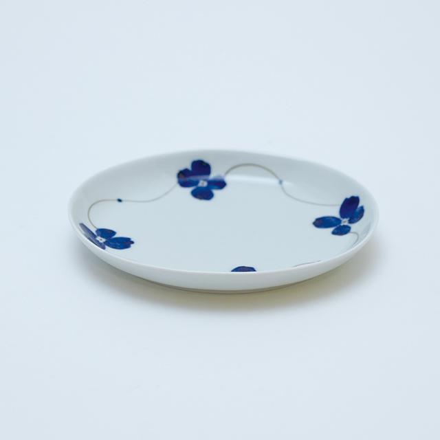 花琳オーバル15cmプレート 有田焼 金善窯 藤正 おとなの日々器 楕円皿 丸皿