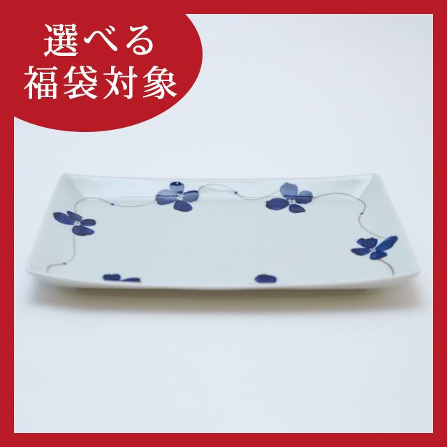 花琳24.5cmレクタングル 有田焼 金善窯 藤正 おとなの日々器 長角皿 角皿 プレート