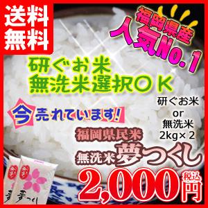 【送料無料】福岡県産「夢つくし」4kg(2kg×2個)【九州産】【福岡県人気No.1】