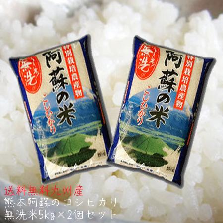 【送料無料】特別栽培米・阿蘇こしひかり10kg(5kg2個)【九州】【熊本県】