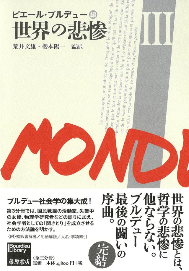世界の悲惨 3(全3分冊)