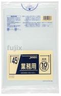 業務用ポリ袋 45L LLDPE 透明0.03mm 600枚/ケース P-43 ジャパックス