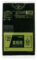 業務用ポリ袋 20L LLDPE+meta 黒色0.025mm 600枚/ケース TM22 ジャパックス