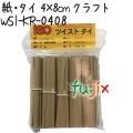ツイストタイ 紙・タイ 4×8cm クラフト 1000本 【WSI-KR-0408】