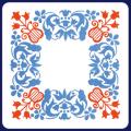 フジ紙コースター 花柄角2色