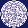 フジ紙コースター 紺の小花菊丸