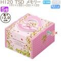 デコレーションケーキ箱 H120  TSD メモリー 5号 100個/ケース O40330 ケーキ箱 業務用