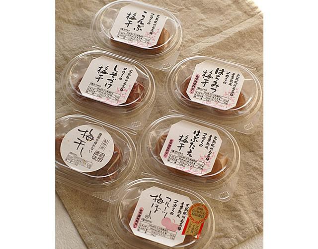 送料無料 和歌山県の南高梅専門店の食べ比べセット(6種類)