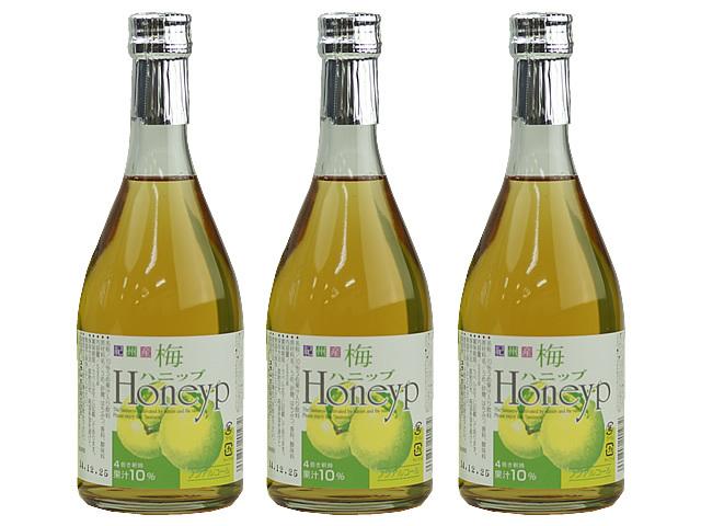 果汁10% 和歌山県産の南高梅で作った梅ドリンク 梅ハニップ 3本入