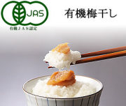 有機JAS認定,和歌山県産の有機梅干し100g(約5粒~6粒)