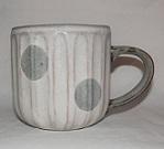 4136a 小石原焼 翁明窯 マグカップ 水玉 1個