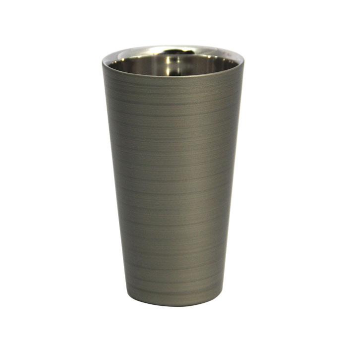 漆磨カップ 2重ストレート パール銀
