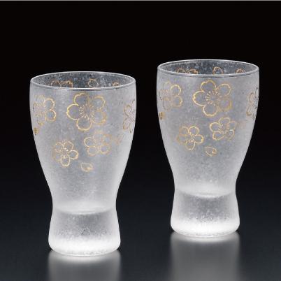 グラス プレミアム 桜 酒グラスペアセット