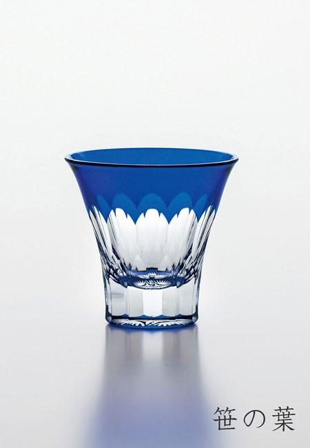 八千代切子 杯 (笹の葉柄)