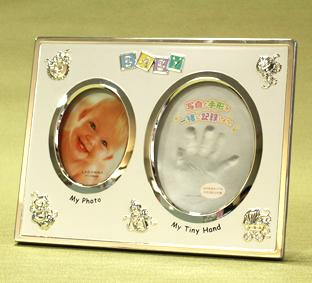 出産祝い・手形・足形付きベビーフォトフレーム【MB21/20】2色から選択