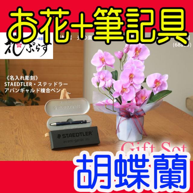 花ぷらす《STAEDTLER複合ペン》ファレノ胡蝶蘭【ペン名入れ彫刻】68a25-avantgardeギフトセット