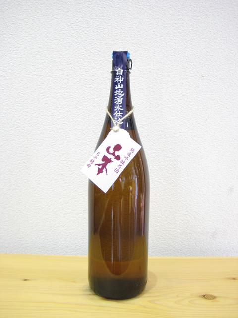 白瀑 純米吟醸山本 6号酵母(生原酒)1800