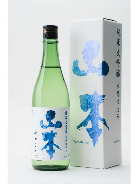 白瀑 純米大吟醸木桶仕込み山本 アイスブルー(箱付)720