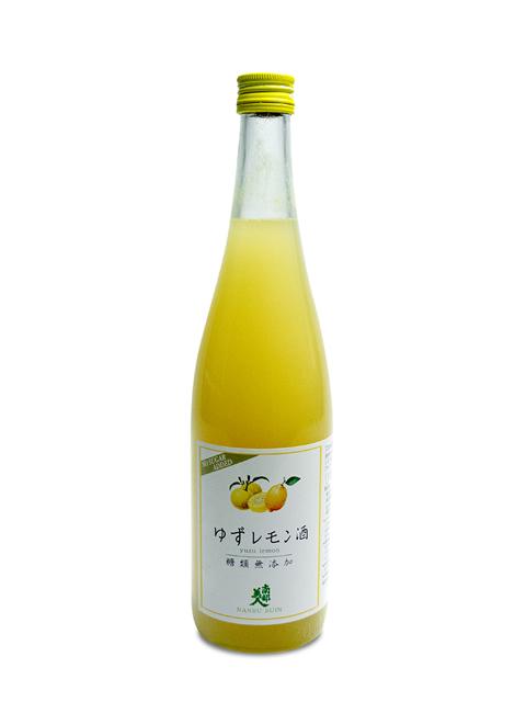 南部美人 糖類無添加「ゆずレモン酒」720