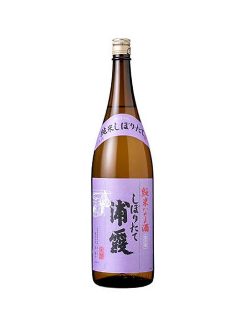 浦霞 しぼりたて純米生酒1800