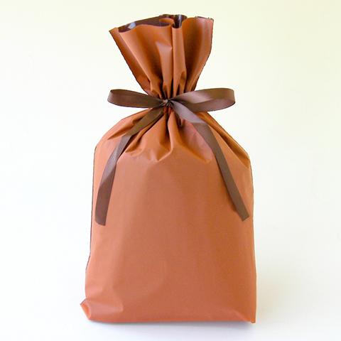 梨地巾着袋 オレンジ