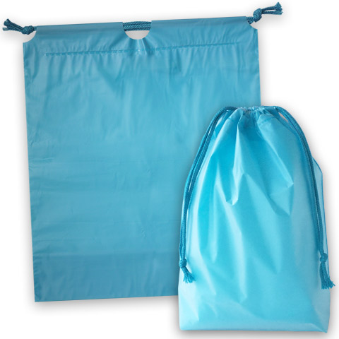 ホリデーバッグ 巾着袋 ブルー
