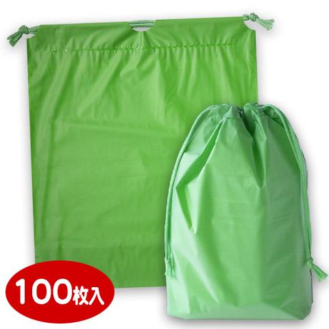 ホリデーバッグ 巾着袋 グリーン