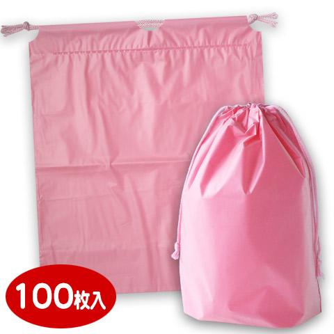 【小ロット対応商品】ホリデーバッグ 巾着袋 ピンク(小)WA-1(100枚入)【まとめ割引商品E】