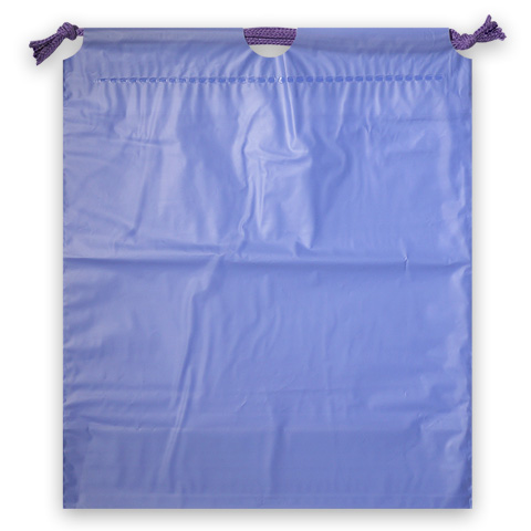 ホリデーバッグ 巾着袋 バイオレット