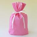 梨地巾着袋 ピンク